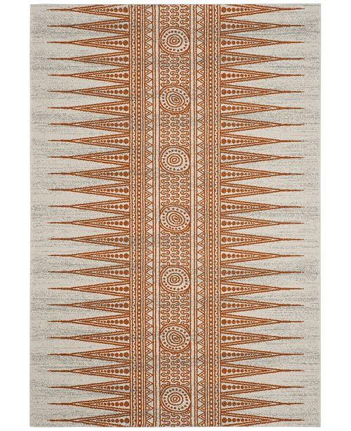 Safavieh Evoke Ivory and Orange 4' x 6' Area Rug
