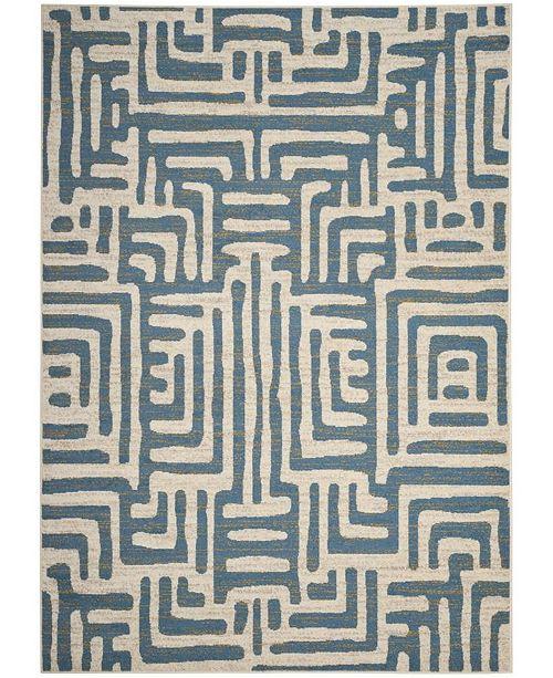 "Safavieh Amsterdam Ivory and Light Blue 6'7"" x 9'2"" Area Rug"