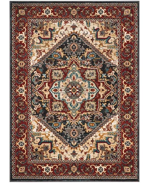 "Safavieh Summit Dark Gray and Red 5'1"" x 7'6"" Area Rug"