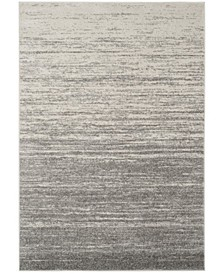 Adirondack Light Gray and Gray 6' x 9' Area Rug