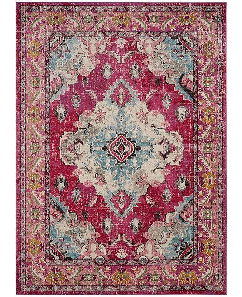 Safavieh Monaco Pink and Multi 8' x 10' Area Rug