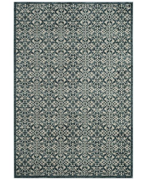 Safavieh Serenity Turquoise and Cream 6' x 9' Area Rug