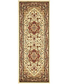 """Lyndhurst Ivory and Red 2'3"""" x 18' Runner Area Rug"""