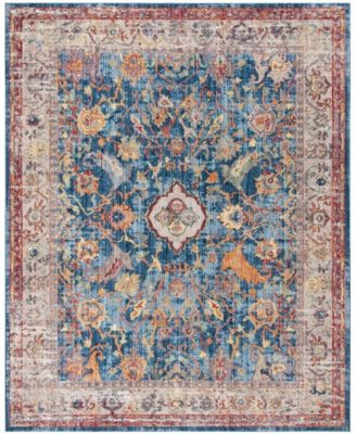 Bristol Blue and Light Gray 4' x 6' Area Rug