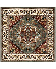 """Summit Gray and Ivory 6'7"""" x 6'7"""" Square Area Rug"""