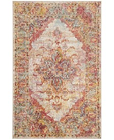 Crystal Cream and Rose 3' x 5' Area Rug