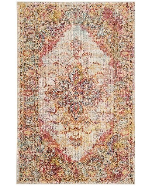 Safavieh Crystal Cream and Rose 3' x 5' Area Rug