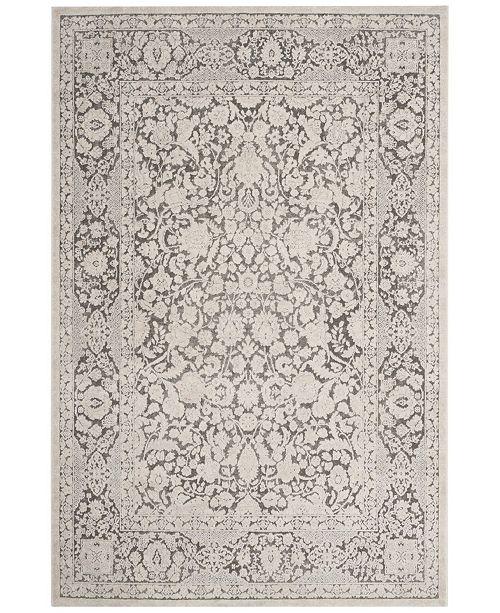 Safavieh Reflection Dark Gray and Cream 3' x 5' Area Rug