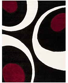 "Safavieh Shag Black and Ivory 8'6"" x 12' Area Rug"