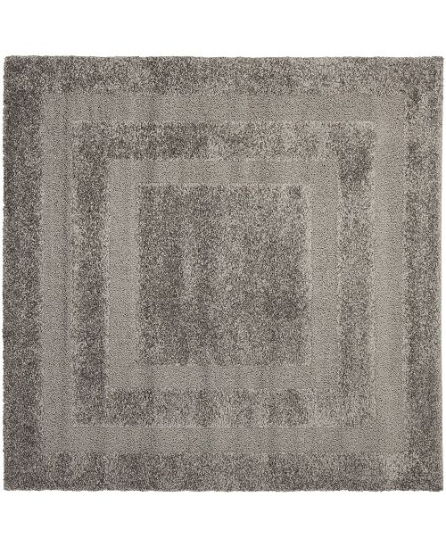 Safavieh Shag Gray 5' x 5' Square Area Rug