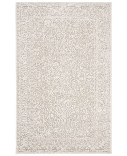 """Safavieh Reflection Creme and Ivory 5'1"""" x 7'6"""" Area Rug"""