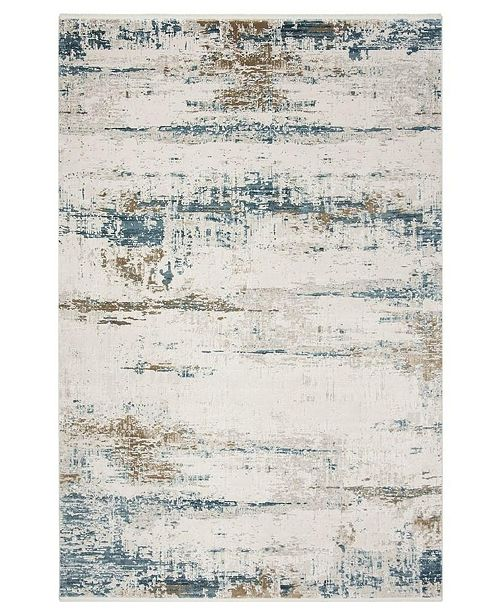 Safavieh Eclipse Beige and Blue 4' x 6' Sisal Weave Area Rug