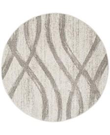 Safavieh Adirondack Cream and Gray 4' x 4' Round Area Rug