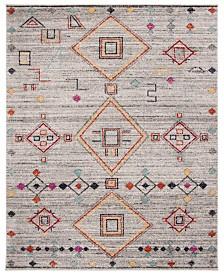 Safavieh Adirondack Light Gray and Red 6' x 9' Sisal Weave Area Rug