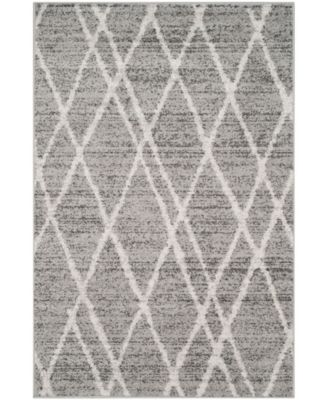 Adirondack Ivory and Silver 4' x 4' Square Area Rug
