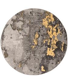 Safavieh Adirondack Gray and Yellow 4' x 4' Round Area Rug