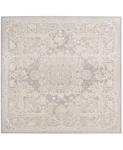 Safavieh Reflection Light Gray and Cream 5' x 5' Square Area Rug