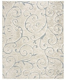 Shag Cream and Light Blue 8' x 10' Area Rug