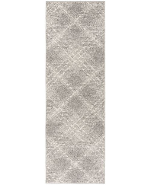 "Safavieh Adirondack Light Grey and Ivory 2'6"" x 12' Runner Area Rug"