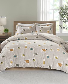 True North by Sleep Philosophy Cozy Flannel Full/Queen 3 Piece Duvet Set