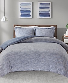 Urban Habitat Space Dyed Twin/Twin XL 2 Piece Melange Cotton Jersey Knit Comforter Set