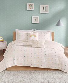 Urban Habitat Kids Callie Full/Queen 5 Piece Cotton Jacquard Pom Pom Coverlet Set
