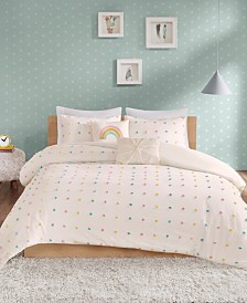 Urban Habitat Kids Callie Full/Queen 5 Piece Cotton Jacquard Pom Pom Comforter Set