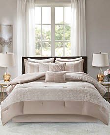 Madison Park Ava Queen 7 Piece Chenille Jacquard Comforter Set