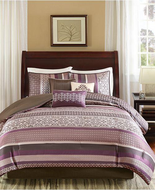 JLA Home Madison Park Princeton Cal King 7 Piece Jacquard Comforter Set