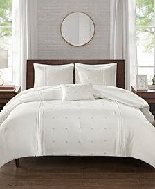 510 Design Natalee Full/Queen 4 Piece Dot Embroidered Comforter Set