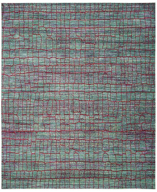 Safavieh Valencia Green and Red 9' x 12' Area Rug