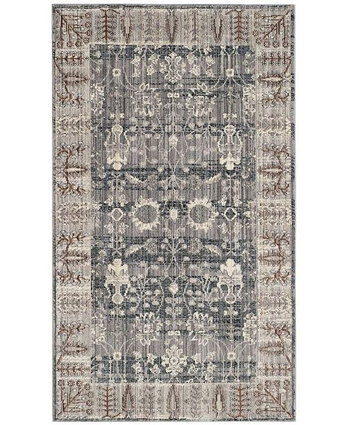 Safavieh Valencia Dark Gray and Light Gray 3' x 5' Area Rug