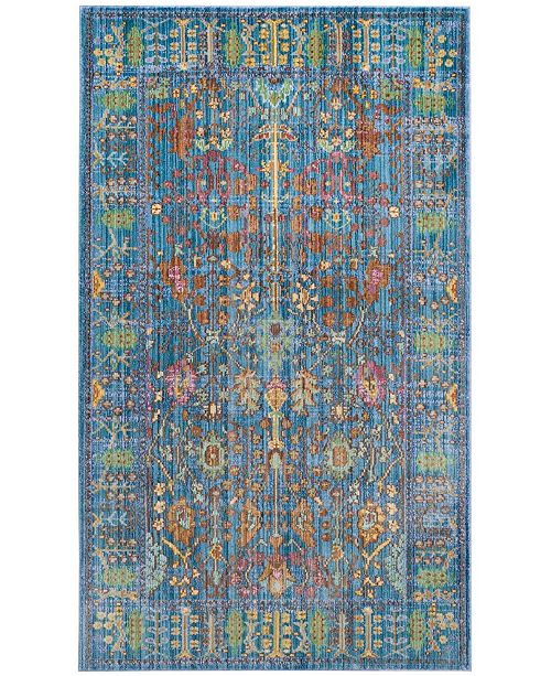 Safavieh Valencia Blue and Multi 3' x 5' Area Rug