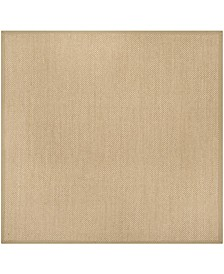 Natural Fiber Maize and Linen 8' x 8' Sisal Weave Square Rug