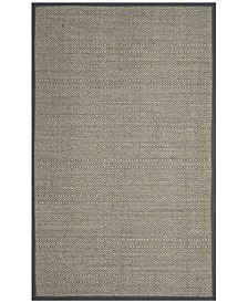 Natural Fiber Natural and Dark Gray 8' x 10' Sisal Weave Area Rug