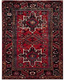 Vintage Hamadan Red and Multi 11' x 15' Area Rug