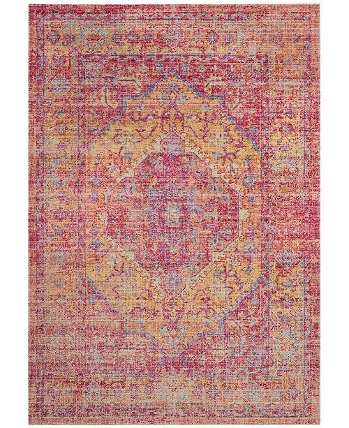 Safavieh Windsor Gold and Fuchsia 6' x 6' Square Area Rug
