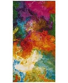 "Safavieh Watercolor Orange and Green 2'2"" x 4' Area Rug"