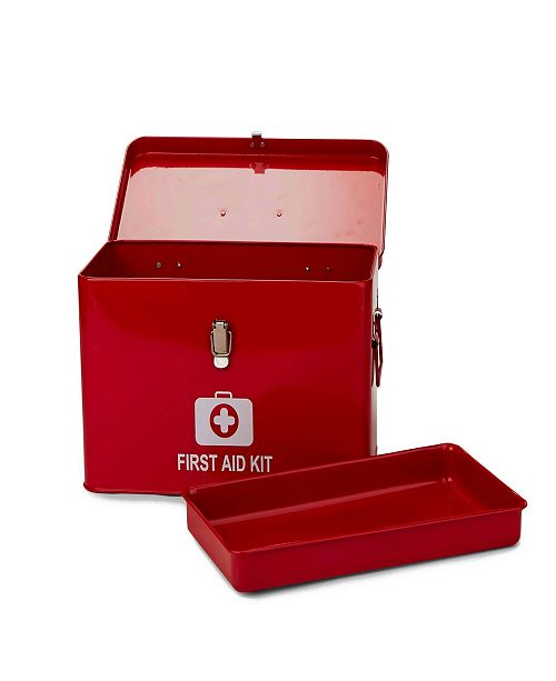 Mind Reader Large First Aid Emergency Kit Box