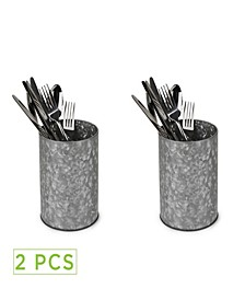 Galvanized Utensil Holder - 2 Pack