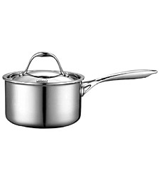 1.5-Quart Multi-Ply Clad Stainless Steel Saucepan with Lid