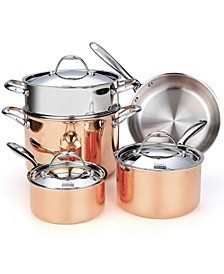 8-Piece Multi-Ply Clad Cookware Set, Stainless Steel
