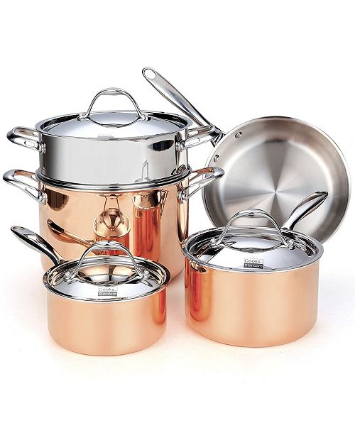 Cooks Standard 8-Piece Multi-Ply Clad Cookware Set, Stainless Steel