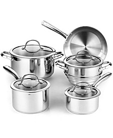 9-Piece Classic Stainless Steel Cookware Set