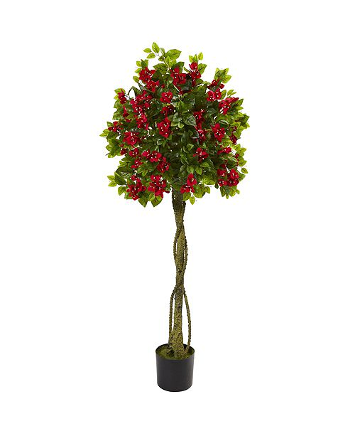 Nearly Natural 5' Bougainvillea Artificial Topiary Tree