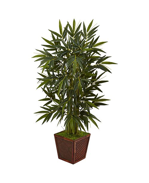 Nearly Natural 4' Faux Artificial Tree in Square  Planter