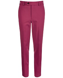 Lauren Ralph Lauren Big Boys Classic-Fit Stretch Mulberry Dress Pants
