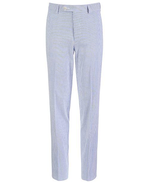 Lauren Ralph Lauren Big Boys Classic-Fit Seersucker Stripe Suit Pants