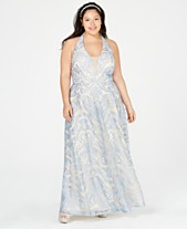 17c84b01604 Speechless Trendy Plus Size Embroidered Halter Gown
