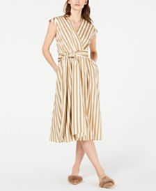 Marella Tie-Wrap Striped Dress